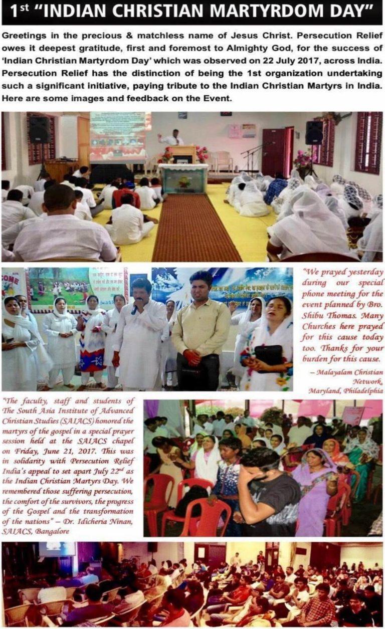 Indian Christian Martyrdom Day